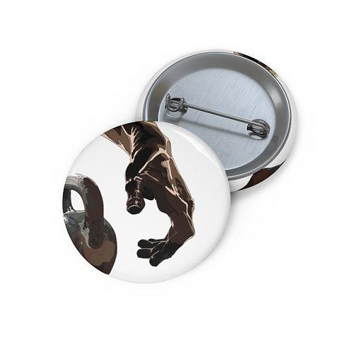 Kettlebell hand Custom Pin Buttons