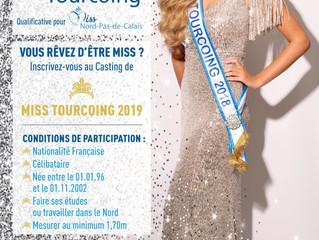 Les inscriptions pour l'élection Miss Tourcoing 2019 sont ouvertes!! Pour vous inscrire, il suff