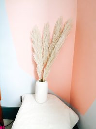 Ivory Natural Fluffy Pampas