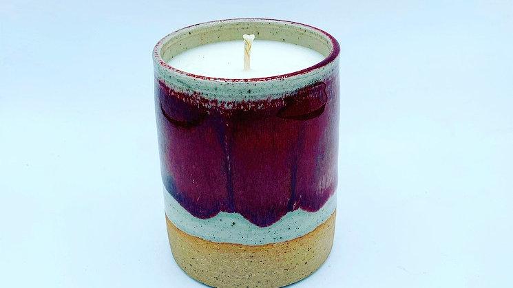 Crimson Stoneware Candle