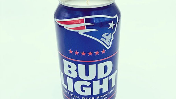 Bud Light Patriots Soy Candle (for Troop 121!)