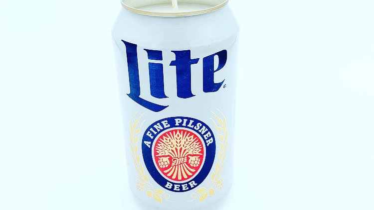 Miller Lite Soy Candle