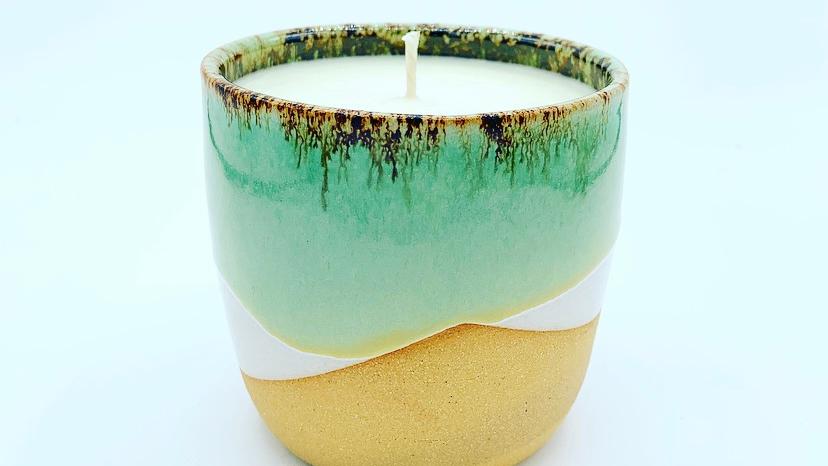 Jade Stoneware Candle