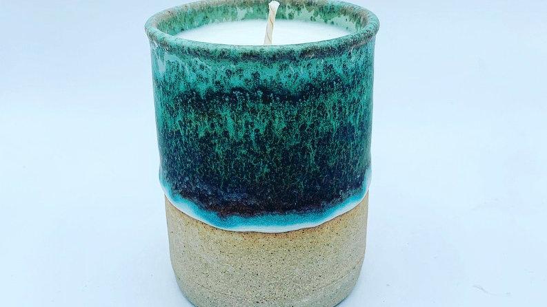 Seafoam Stoneware Candle