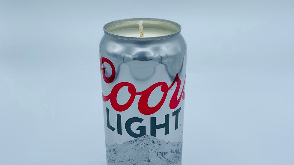 Coors Light Soy Candle