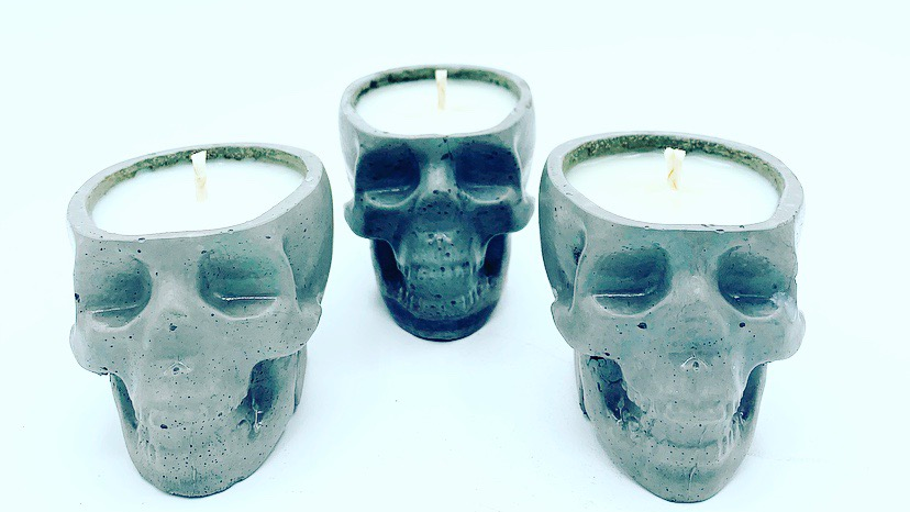 Skull Votive Candle Set (3)