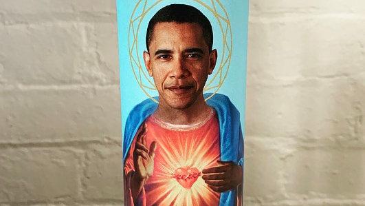 Saint Obama Prayer Candle
