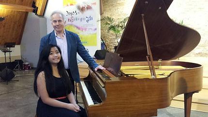 Andrea and I at Prime School recital, Ju