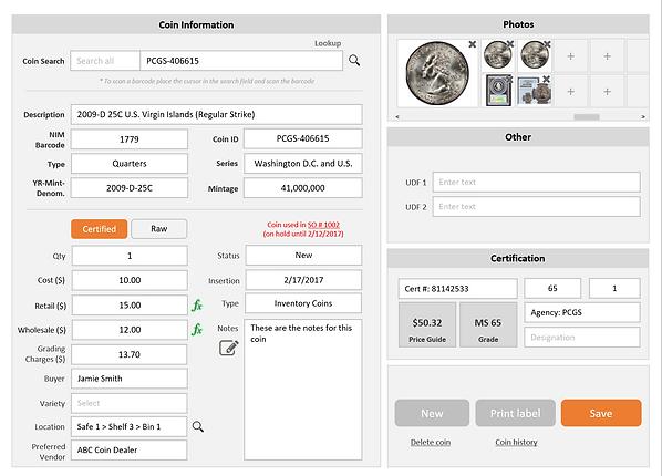 NIM Coin Information Screen