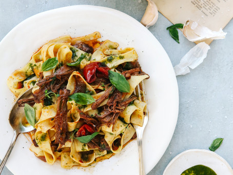 Pasta with Slow Roasted Stew
