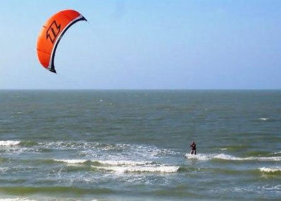 Water sports on the Gulf of Mexico as viewed from Kahlua Beach Club