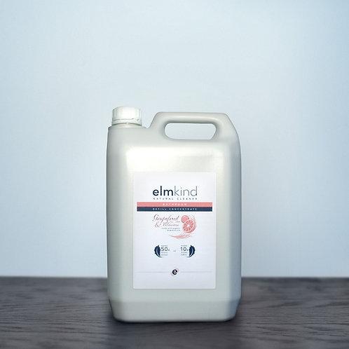 elmkind Grapefruit & Palmarosa Bathroom Cleaner - Refill Concentrate - 5 Litre
