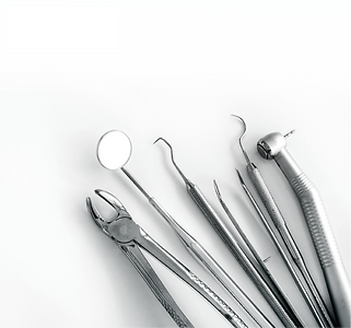 Closeup of dental tools used for mobile dental services at prisons and jails