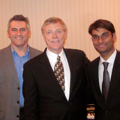 Dr. Waldecker, Prof. Howard Klug and Dr. Arun Nadgir after a guest recital at MTSU