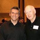 Dr. Waldecker with his high school clarinet teacher, John Patterson