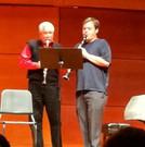 Chase King plays for Paquito D'Rivera at the Vandoren Clarinet Ensemble Festival at the University of North Carolina-Greensboro