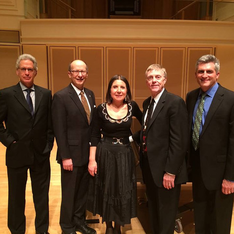 Alfred Prinz Memorial Concert at the Indiana University Jacobs School of Music with Prof. Eli Eban, Prof. James Campbell, Maria Prinz, and Prof. Howard Klug