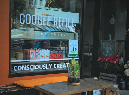 Cafe shop front Coogee Refill
