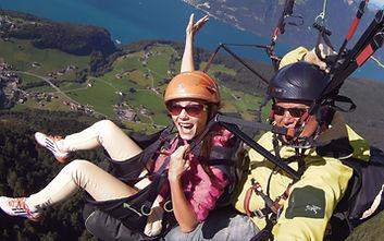 Gleitschirm Tandem Flug mit Photo Service