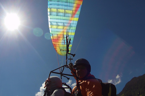 Thermal flying with a tandem paraglider