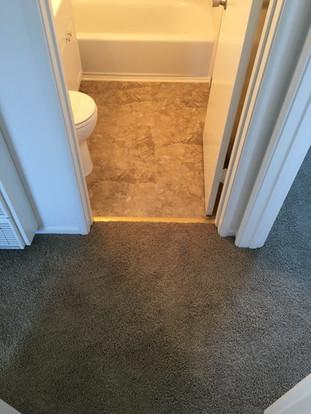 Rental bath Luxury vinyl flooring