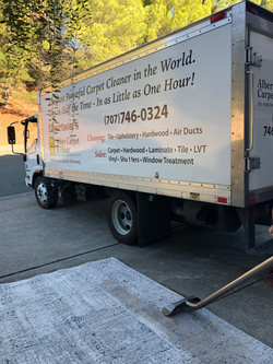 ALBERTSON'S CARPET CLEANING BOX TRUCK