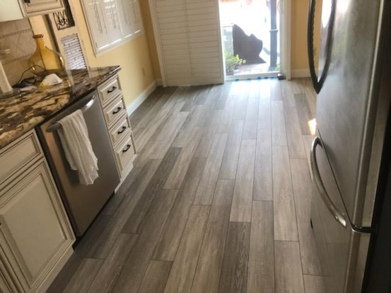 Luxury vinyl kitchen