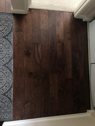 Engineered hardwood.