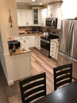 Water proof flooring in the kitchen
