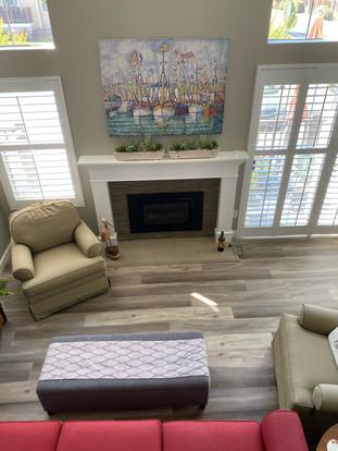 New flooring for the family room