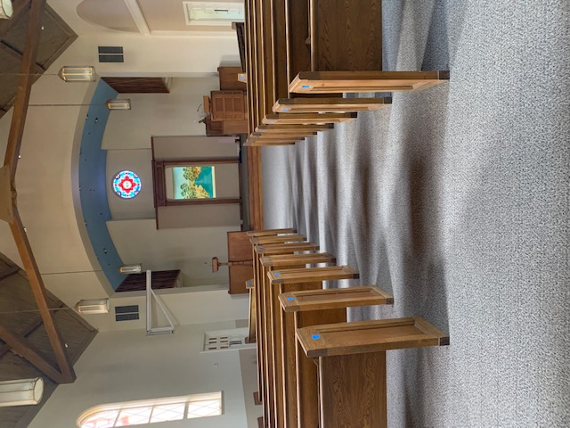 FINISHED INSTALLATION OF CHURCH CARPET