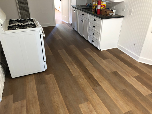New Flooring in the kitchen.