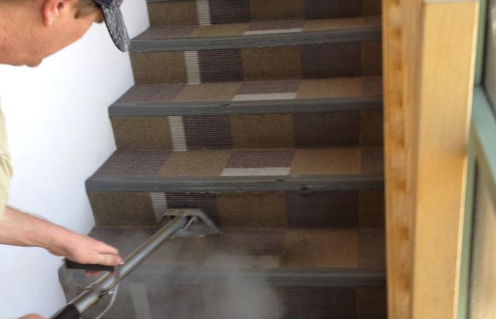 Commercial stairwell cleaning.