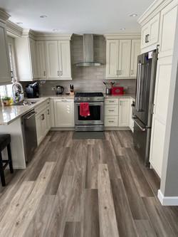 Newly installed Luxury vinyl flooring