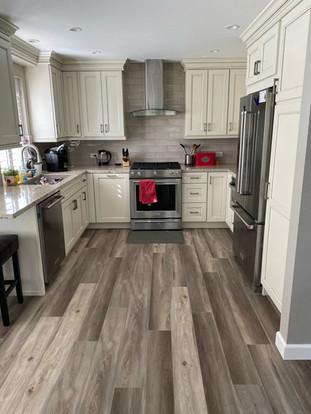 Newly installed flooring