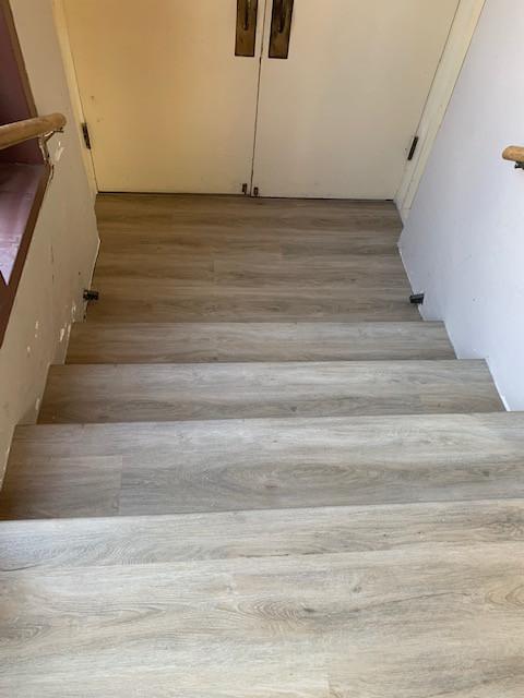 Luxury vinyl stairwell