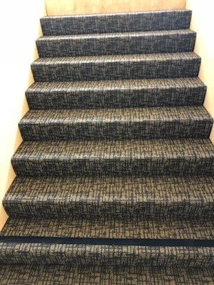 Commercial Stairwell with color strip