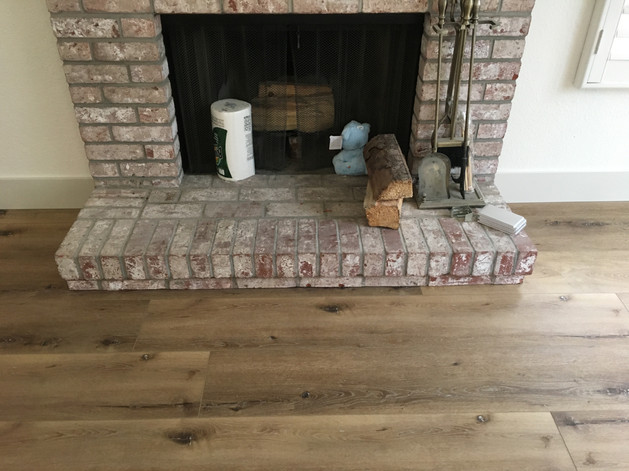 Lvf Undercutting the fireplace