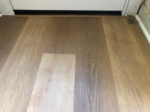 New flooring for the entry way.