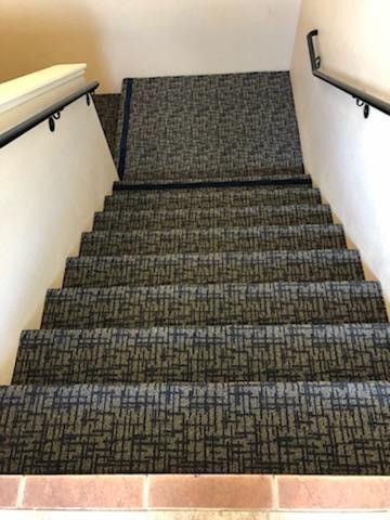 Commercial carpet stairwell