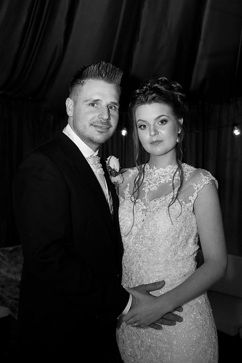 Bride and groom at the Oaklands hotel