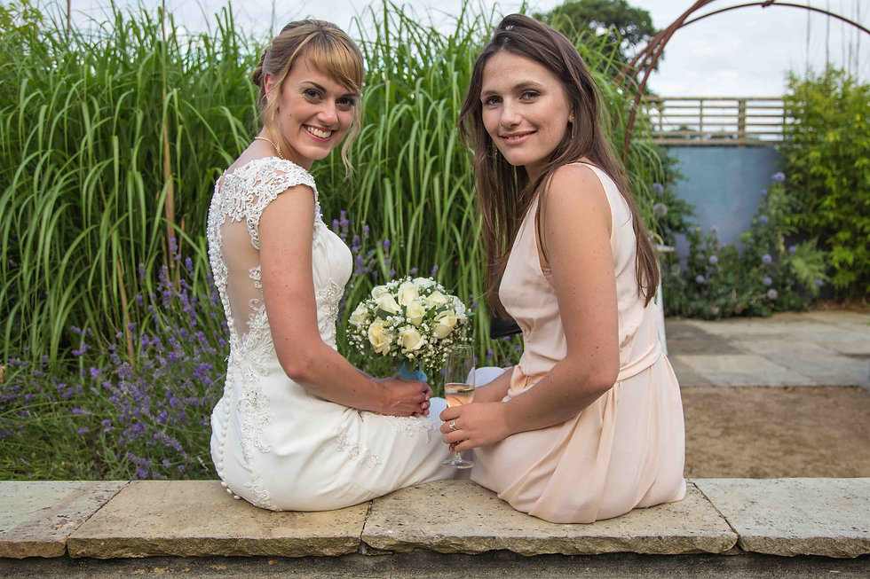 The bride with best mate