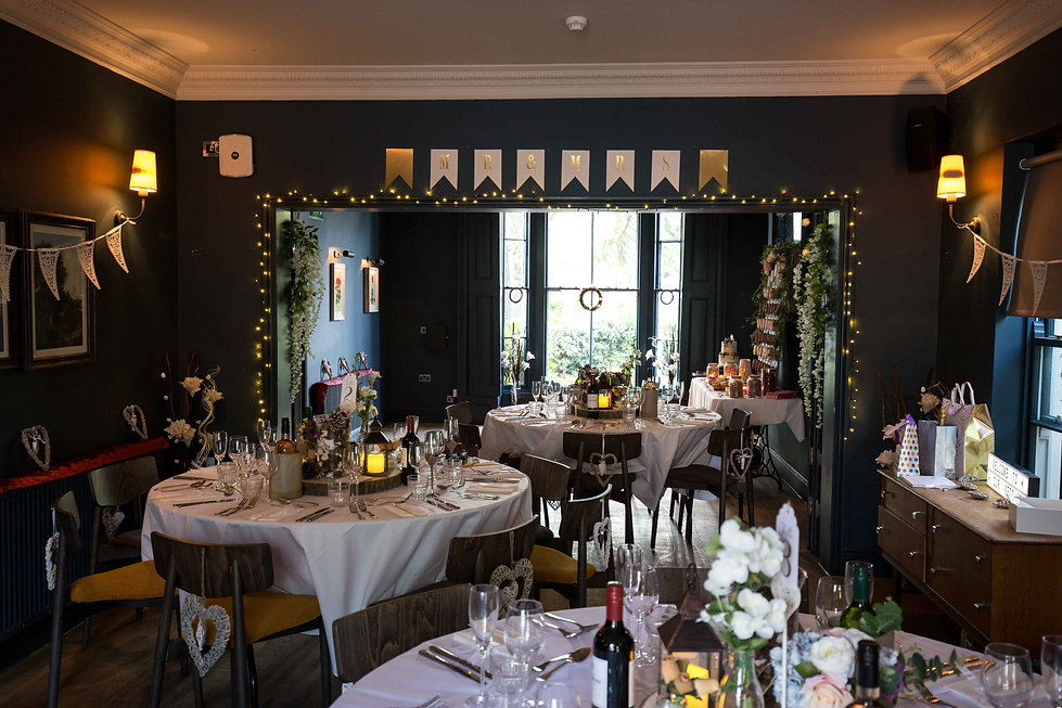 Hot Norfolk wedding venue, the Georgian town house, prepped for a beauitful reception.