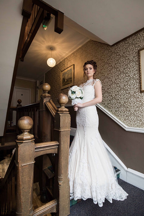The bride on the stairs