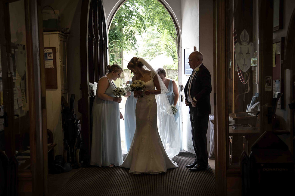 The brides entrance