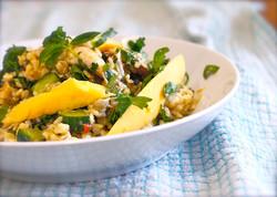 Lunch- mango chicken rice salad