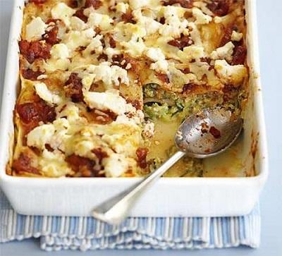 7 creamy courgette lasagne