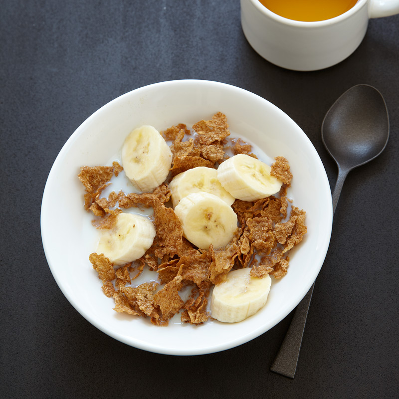 breakfast branflakes and banana