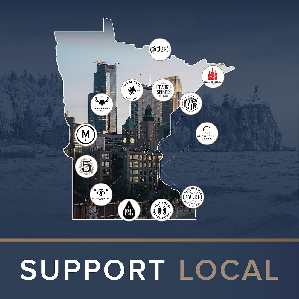 Support Local Banner Image with Map & Logos