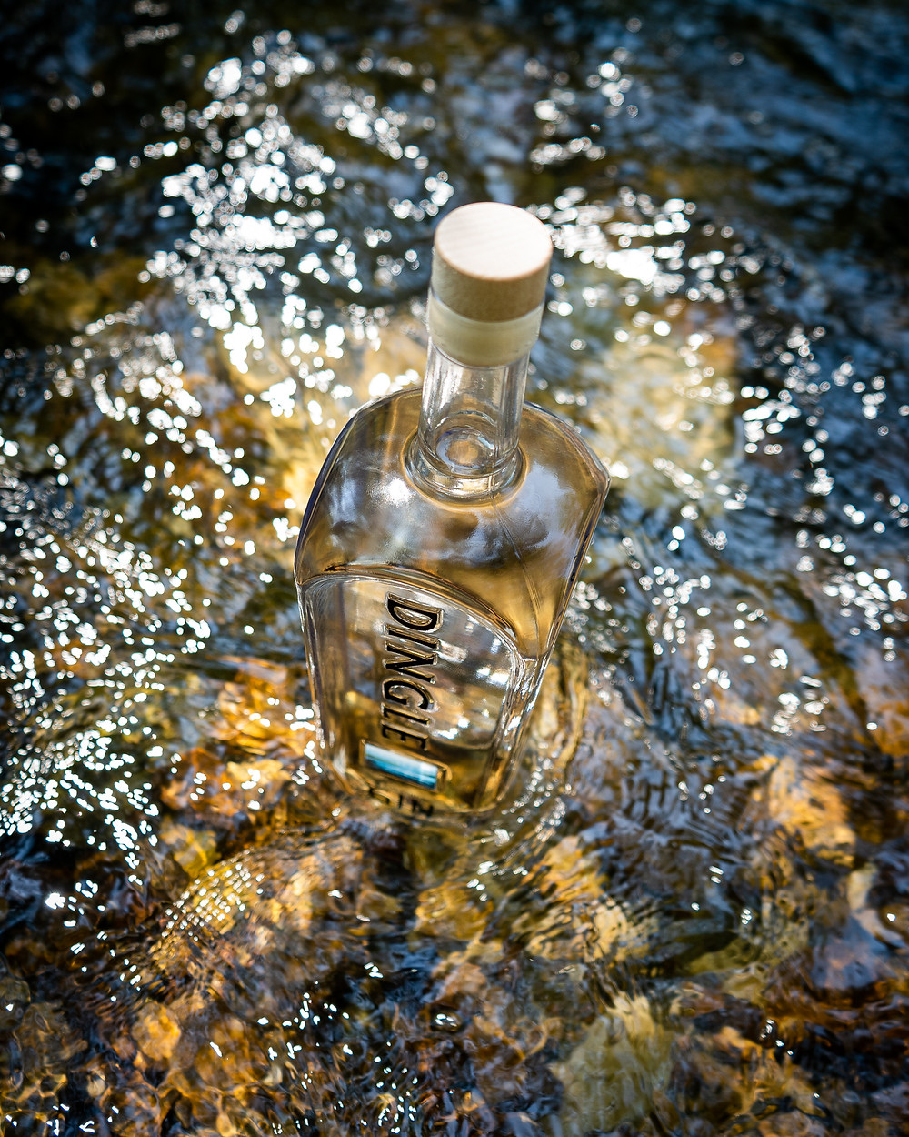 Dingle Irish Gin in Fresh Irish Stream